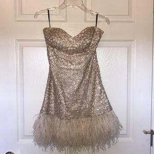 Bebe Champagne cocktail dress